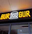 BURGUR Frontlit Backlit Fabricated LED Letters 127x137 - Types